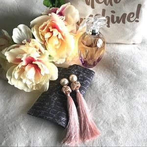 Jewelry - ✨New! Dramatic Tassel Earrings (Blush Edition)